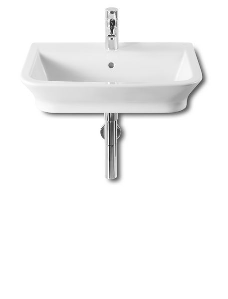 Roca The Gap one tap hole cloakroom/countertop basin 600mm White