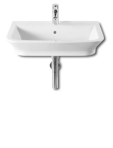 Roca The Gap 1 tap hole wall hung/countertop basin 650mm White