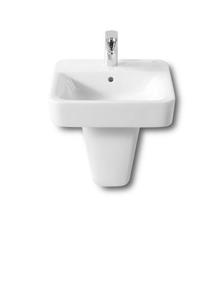 Roca Senso one tap hole square basin 450 x 440mm White