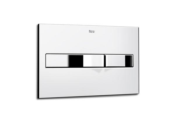 Roca Pro P2 dual operating plate Chrome