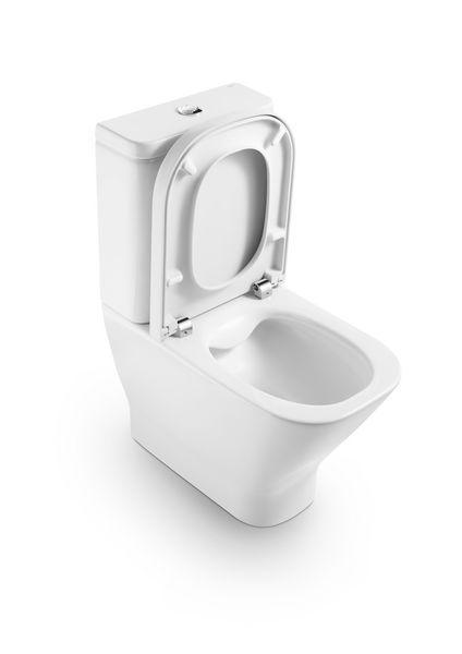 Roca The Gap cleanrim soft close toilet seat White