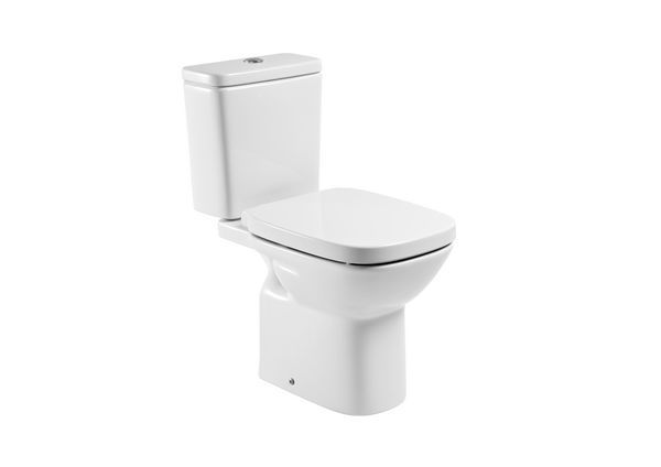 Roca Debba close coupled cistern with push button White