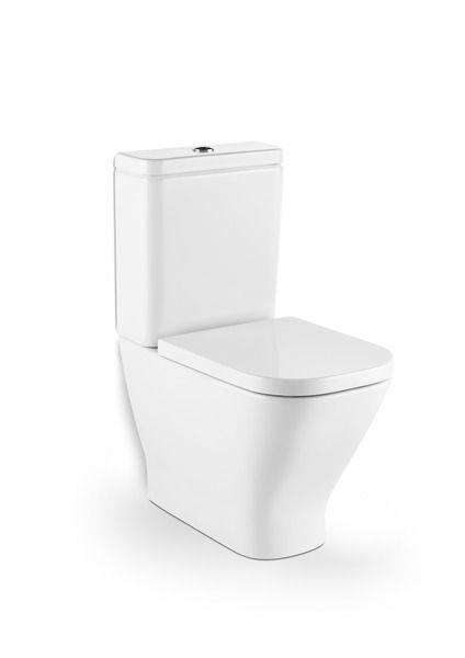 Roca The Gap rimless toilet pan no cutout for isolation valve