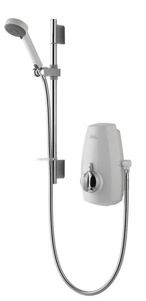 Aqualisa Aquastream thermostatic intergrated pump system White/Chrome Plated