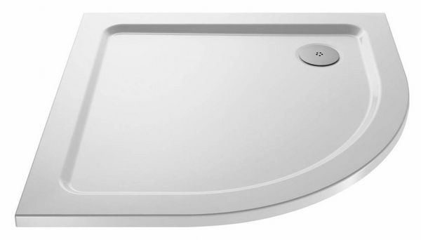 Mira Flight Low quadrant shower tray with 2 upstands 800 x 800mm