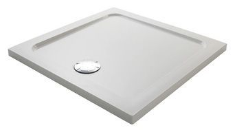 Mira Flight Low shower tray no upstands 800 x 800 White
