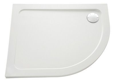 Mira Flight Low quadrant shower tray no upstands 900 White