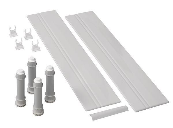 Mira Flight Low square riser kit 900mm White