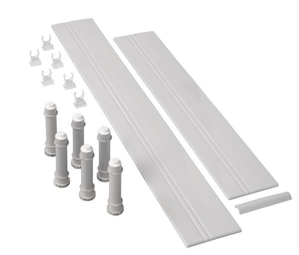 Mira Flight Low rectangle riser kit 1200mm White