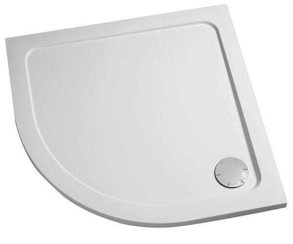 Mira Flight Low quadrant shower tray 800mm White