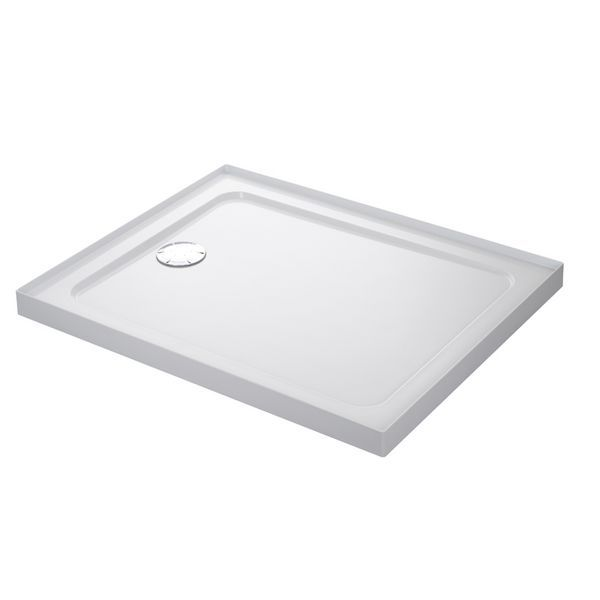 Mira Flight low shower tray with 4 upstands and waste 1000 x 760mm