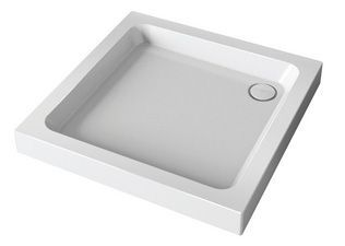 Mira Flight shower tray with 4 upstands and waste 900 x 900mm