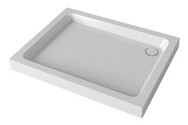 Mira Flight shower tray with 4 upstands and waste 1000 x 800mm