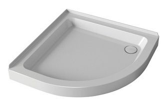 Mira Flight quadrant shower tray with 2 upstands and waste 800mm