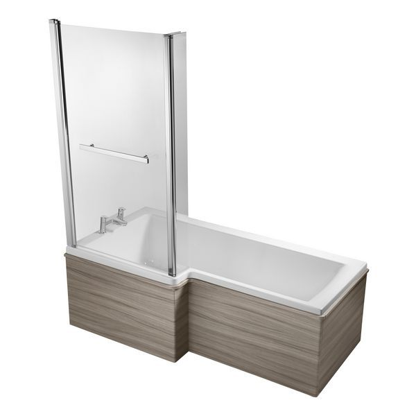 Ideal Standard Concept Space shower bath screen Silver/Clear