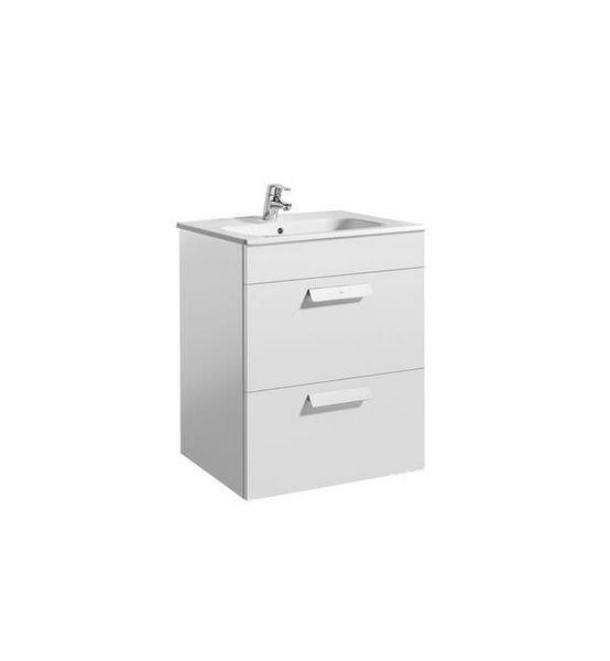 Roca Debba 2-drawer vanity unit 600mm Gloss White