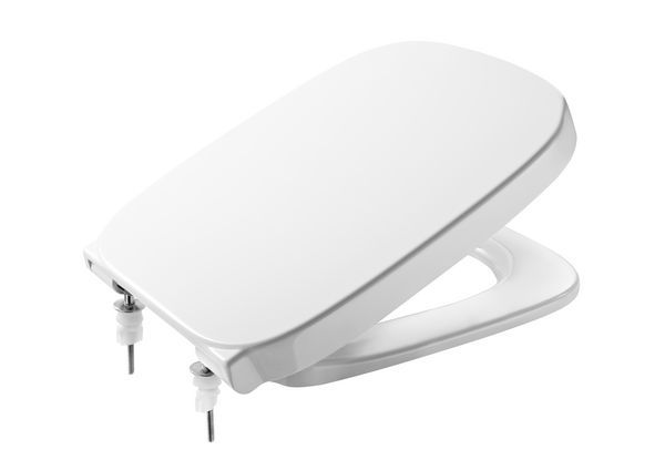 Roca Debba square seat and cover top fixing White
