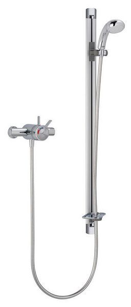 Mira Select exposed variable shower plus flexible kit Chrome Plated