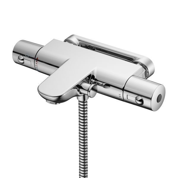 Ideal Standard Alto mounted ecotherm bath shower mixer deck with legs