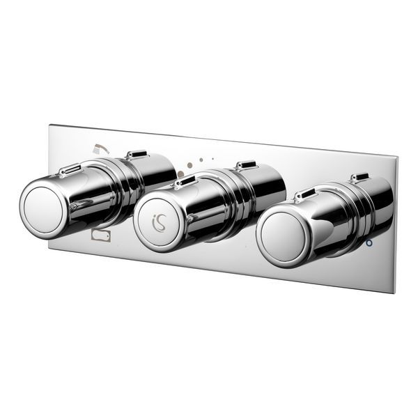 Ideal Standard Attitude thermostatic shower with built in 3-control and 2 outlets Chrome Plated