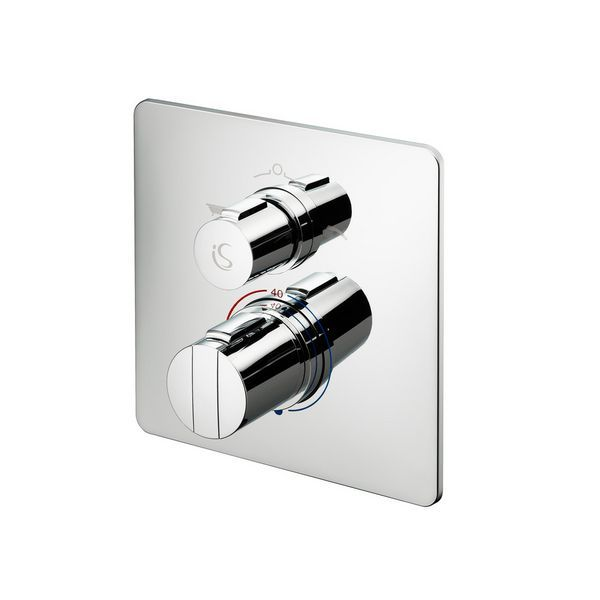 Ideal Standard Easybox A5880 built in thermostatic bath shower mixer with square face plate