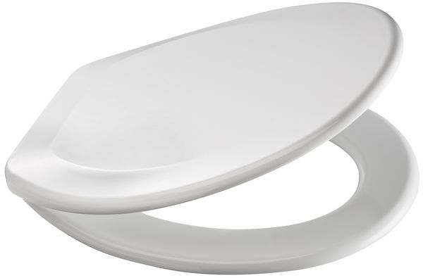 Carrara & Matta Jersey Plastic Seat With Plastic Hinges White