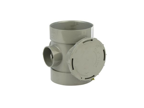 Center S/W Access Pipe 110 Mm Grey