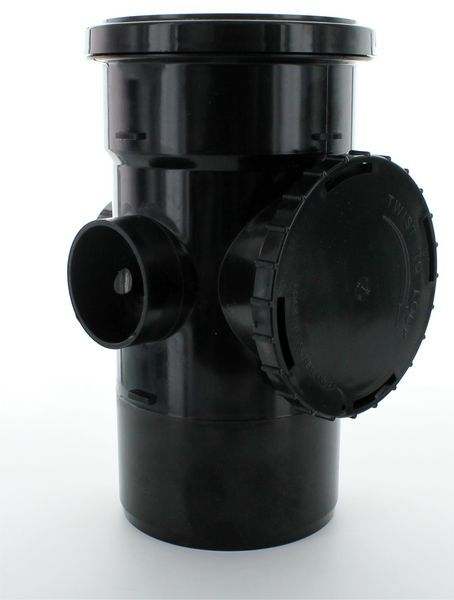 Center Access Pipe 110 Mm Black