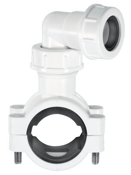 Mcalpine Pipe Clamp White 1.5 X 25Mm X 22Mm