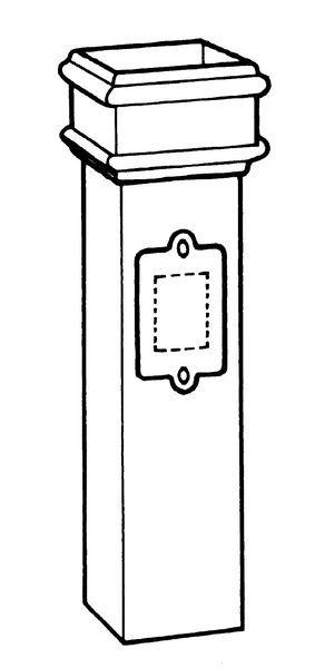 75X75mm Erd Square Access Pipe