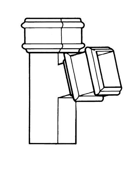 75X75mm 92.5Deg Square Branch