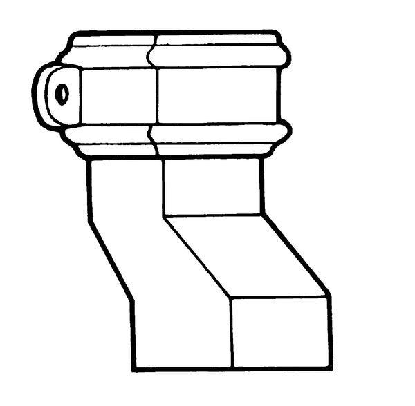 75X75mm Erd Square Anti-Splash Shoe