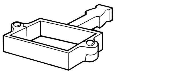 75X75mm Square Build-In Holderbat