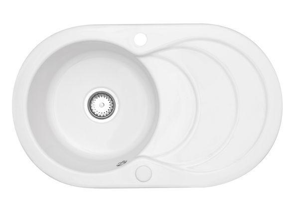 Astracast Cascade Ceramic Sink 1 Bowl White