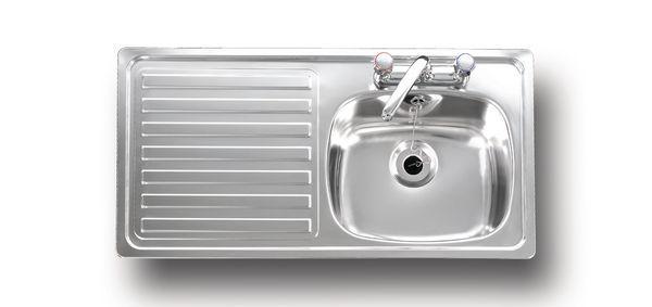Carron Phoenix Unisink 1Sdt Inset Left Hand 2 Tap Hole Bs1244 Sink Stainless Steel