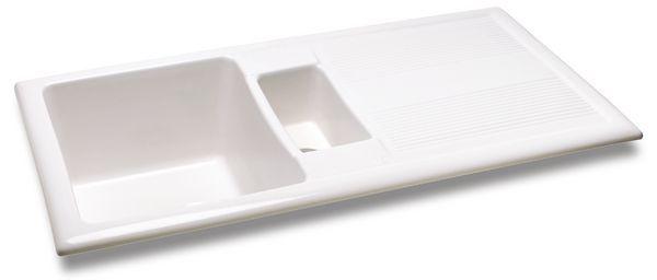Carron Phoenix Shonelle 150 Ceramic Inset Sink & Waste White