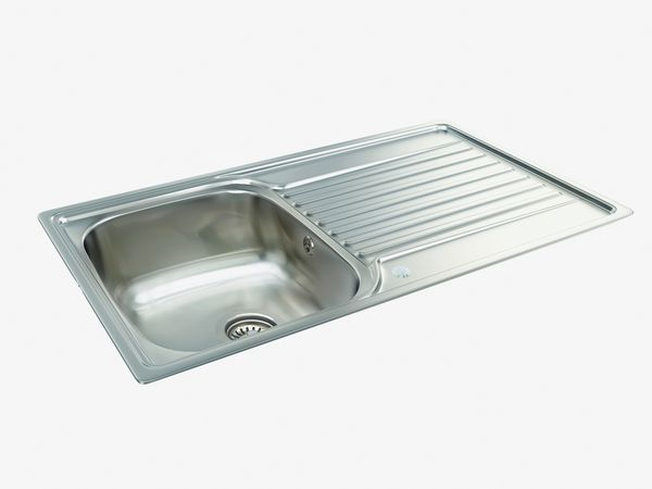 Carron Phoenix Contessa 90 1.0 Bowl Revolution Waste Sink 860Mm X 494Mm Stainless Steel