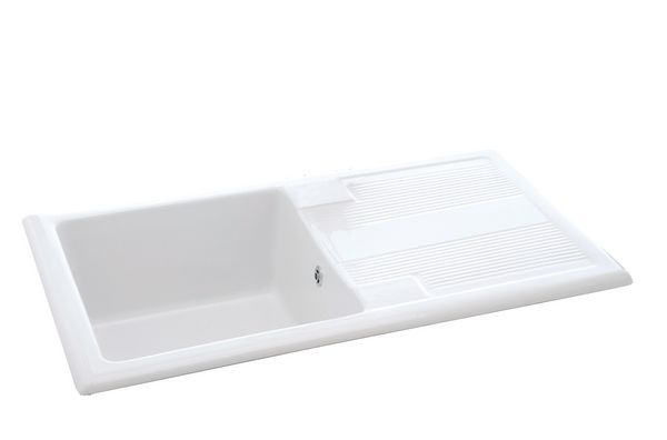 Carron Phoenix Shonelle 105 Ceramic Inset Sink & Waste White