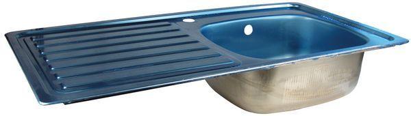 Carron Phoenix Unisink 1 Side Drainer 1.0 Bowl 1 Tap Hole Left Hand 1244 Sink Stainless Steel