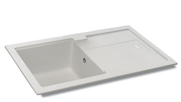 Carron Phoenix Bali Reversible Sink 1.0 Bowl 780 X 500 Polar White