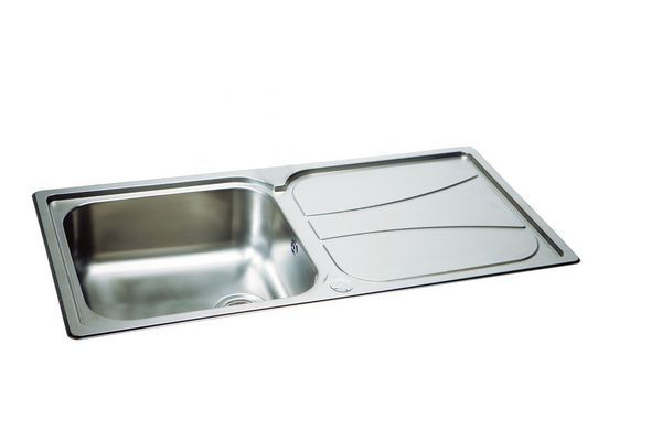 Carron Phoenix Zeta Zeta100l4k Reversible Sink Linen 1.0 Bowl 1030 X 510 Polished Stainless Steel