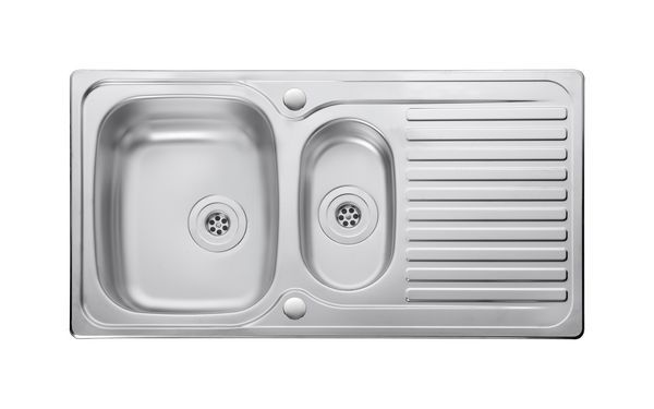Nabis 1 Tap Hole Reversible Inset Sink 1.5 Bowl Stainless Steel
