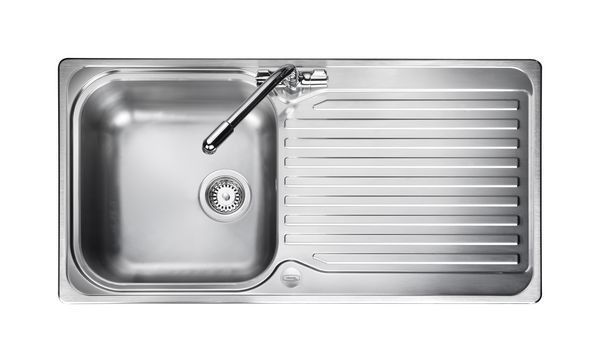 Nabis 1 Tap Hole Reversible Inset Sink 1.0 Bowl Stainless Steel