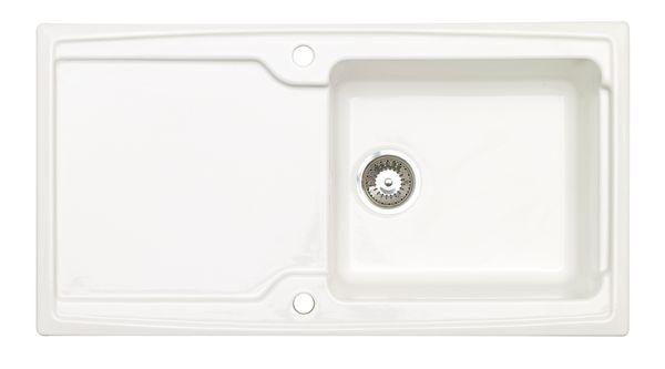 Astracast Ardenne Ceramic Sink 1 Bowl White