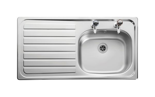 Leisure Lexin Le95l 2 Tap Hole Left Hand Single Bowl Single Drainer 950 X 508 Stainless Steel