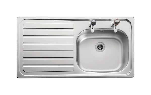 Leisure Lexin Ln95l Line Single Bowl Left Hand Drainer Inset 950 X 508 Stainless Steel