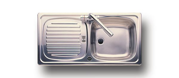 Leisure Euroline El860/Nc Single Bowl Side Drainer 860 X 435 Stainless Steel