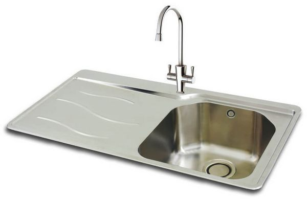 Carrn/P Maui 90 Stainless Steel Sink Lhd