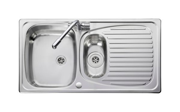 Leisure Euroline El9502/Tc-Wm Sink And Tap 1.5 Bowl Stainless Steel