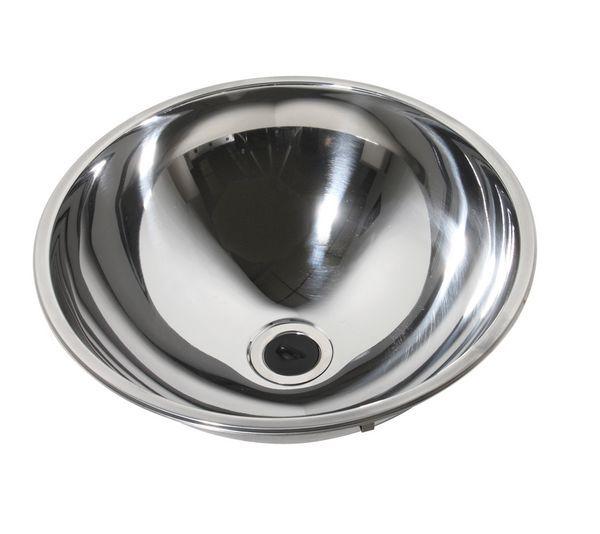 Pland Luxury Inset Hemispherical Bowl 360 Diameter Stainless Steel